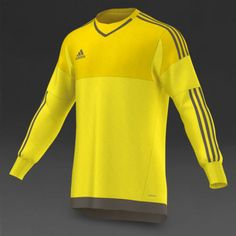 6b66e2579ca Adidas Men Football Goalkeeper Jersey Adizero Soccer Top Yellow S17938 Sz S  (4)