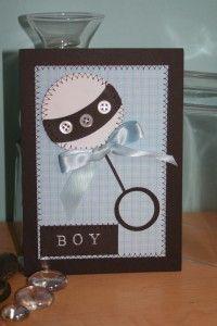 Cricut baby card -- baby steps  circle on top of circle