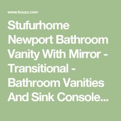 Stufurhome Newport Bathroom Vanity With Mirror - Transitional - Bathroom Vanities And Sink Consoles - by Stufurhome