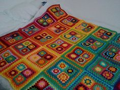 This is an interesting way to do granny squares. This makes it all about the colors.