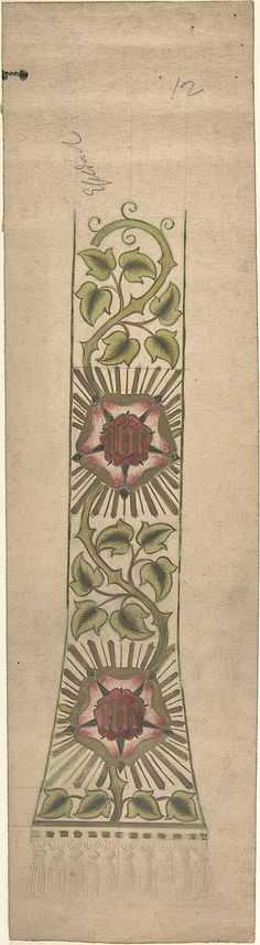 Design for a Stole or Maniple Ernest Geldart (British, London 1848–1929) Date: late 19th–early 20th century Medium: Graphite, pen and ink with watercolor Classification: Drawings Credit Line: Exchange, Royal Institute of British Architects, 1960 Accession Number: 60.724.17