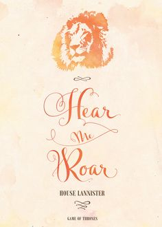 Game of Thrones . House Lannister Art Print