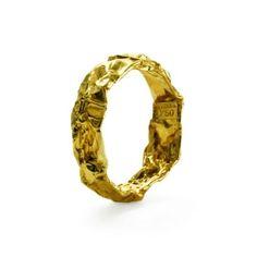Ferrero Rocher Gold Ring || small . I bet a die hard Ferrero Rocher fan would wear this !