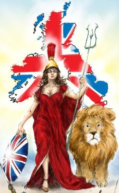 BRITANNIA = is the female personification, the genia loci, of Great Britain and therefore a symbol of Earth's mightiest power. Britannia was worshiped as a mother goddess, one of the Matronae.