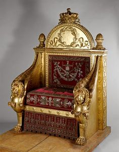 Empire Style Throne Italian