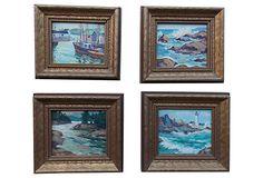 Seascapes by Priscilla Trotter, S/4 on OneKingsLane.com