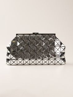Bao Bao Issey Miyake Geometric Panel Clutch Bag in Silver (metallic)