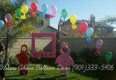 Gabba Gabba single balloon arch