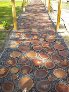 40 Simply Amazing Walkway Ideas For Your Yard Garden walkways act as the backbone of landscape design, providing a sense of structure. Browse ideas of 40 unique backyard and front yard walkways. Garden Stones, Garden Paths, Walkway Garden, Garden Tips, Amazing Gardens, Beautiful Gardens, Landscape Design, Garden Design, Path Design