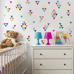 96 Mini Rainbow Triangle Wall Decals Fabric Wall Stickers, Removable and Reusable Eco-Friendly Window Stickers, Wall Stickers, Refrigerator Decoration, Painting Textured Walls, Triangle Wall, Butterfly Wall, Wall Patterns, Decor Crafts, Home Decor