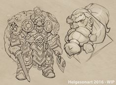 "cyberclays: "" Einar - by Johannes Helgeson ""Viking character design for the CharacterDesignChallenge FEB 2016″ More selected art by Johannes Helgeson on my tumblr [here] """