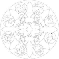 dibujos para imprimir de mandalas para ninos
