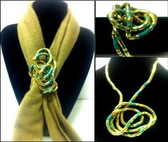 "3-6 Day Delivery- 36 inches long 5mm thick Flexible Bendable Stainless Steel Snake Bendy Jewelry Necklace Bracelet Scarf Holder Chain Twistable Shape Design Gold Turquoise Striped Finish by Trendy Bendy. $7.97. 36"" long 5mm thick, bendable stainless steel. necklace, bracelet, scarf holder, belt, and more! Enjoy twisting it into countless shapes to form your own wearable art.  You are the Ultimate Designer!"