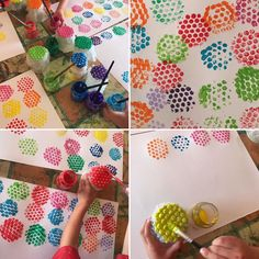 traces with bubble wrap Fine Motor Activities For Kids, Creative Activities, Art Activities, Diy Arts And Crafts, Diy Crafts For Kids, Paper Crafts, Bubble Wrap Art, Diy Niños Manualidades, Handmade Stamps
