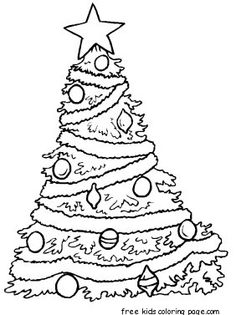 coloring pages of christmas trees with decorative christmas tree coloring page printable christmas coloring pages