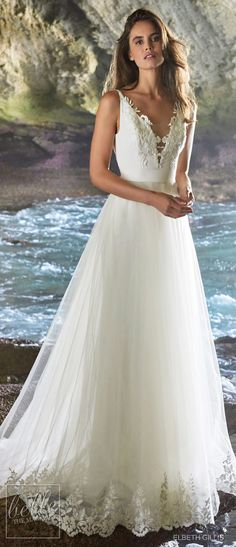 Elbeth Gillis Wedding Dresses 2019 - Luminescence Bridal Collection. Lace ball gown wedding dress. Princess bridal gown tulle skirts. Deepv neck wedding gown strappss #weddingdress #weddingdresses #bridalgown #bridal #bridalgowns #weddinggown #bridetobe #weddings #bride #weddinginspiration #dreamdress #fashionista #weddingideas #bridalcollection #bridaldress #fashion #bellethemagazine #ido #dress See more gorgeous wedding gowns by clicking on the photo