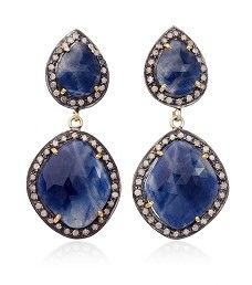 Blue Sapphire and Diamond Elements Earrings