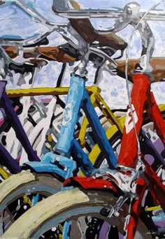 Original Bicycle Painting by Trafic D'art Paint Bike, Bicycle Painting, Original Paintings, Original Art, Pencil Painting, Bike Art, Canvas Art, Canvas Size, Figurative Art
