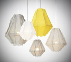 Enoki Cumulus -Pendant Light Soft Grey/Yellow