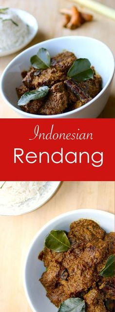 Rendang is a delicious Indonesian beef curry, simmered for a long time, which allows the meat to soak up all the flavors that make up this unique dish.