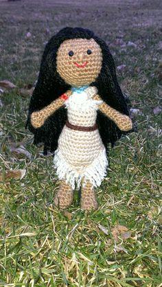 Crochet Pocahontas using pattern from www.rabbizdesigns.com