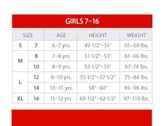 girls dress size chart