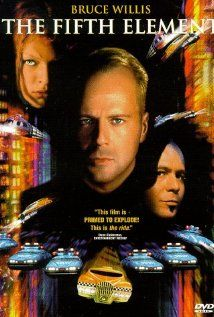 The Fifth Element    Definitely in the top 5 of all great Sci-Fi films!  Milla Jovovich is spectacular, as is Gary Oldman, Ian Holm, Chris Tucker, and, of course, Bruce Willis!  The costumes and soundrack are spectacular.  The special effects are still good, even after all these years.  Check it out if you're a sci-fi fan and haven't seen it.  You'll love it!