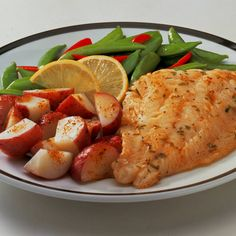 OLD BAY Butter Sauce is simply sensational on fish! Try it also on small red potatoes and snap peas.