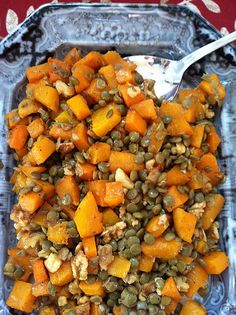 Orange Foods for Fall … And a Recipe for Roasted Butternut Squash with Lentils and Walnuts (Podcast #203)