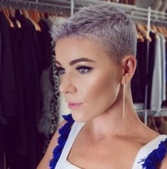 Hair cut of 2018 for me first choice hair cutters - Thin Hair Cuts Super Short Hair, Short Grey Hair, Short Hair Styles, Short Pixie Haircuts, Pixie Hairstyles, Cool Hairstyles, Androgynous Haircut, Thin Hair Cuts, Hair Cutter