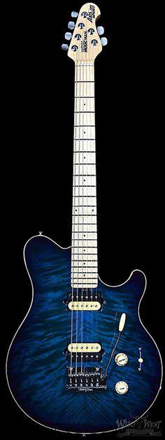 Ernie Ball Music Man Axis Super Sport Trem Pacific Blue Burst - Wild West Guitars