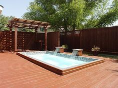 small pool and deck