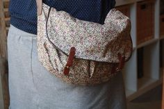 French tutorial for this Liberty bag.