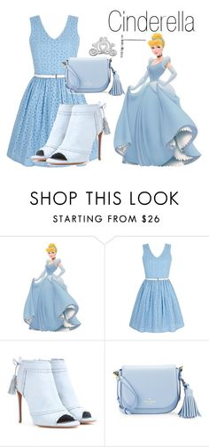 """Cinderella~ DisneyBound"" by basic-disney ❤ liked on Polyvore featuring Yumi, Aquazzura, Kate Spade and Disney"
