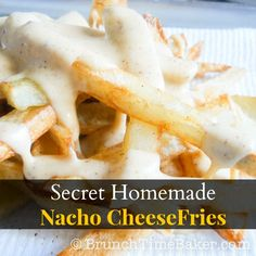 Homemade Nacho Cheese Fries - Brunch Time Baker