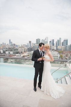 Chic Toronto styled shoot featured on WedLuxe – Rooftop Romance | Photography by: Blynda DaCosta Photography | Production and Design by: Blast Events www.blastevents.ca  Thompson Toronto #weddingplanner #eventplannerToronto