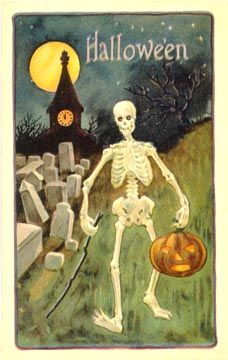 Shop Halloween Skeleton Card created by hallocards. Halloween Skeletons, Spirit Halloween, Holidays Halloween, Halloween Crafts, Happy Halloween, Halloween Decorations, Haunted Halloween, Victorian Halloween, Halloween Stuff