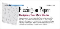 designing your own paper piecing blocks by Carol Doak