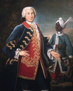 le capitaine de Vire du Liron de Montivers, aux Indes, 1750, par françois dagobert jouvenet