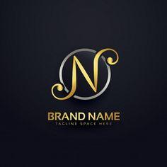 Golden luxury letter n logo design Free . Digital Marketing Strategist, Digital Marketing Plan, N Logo Design, Business Logo Design, App Design, New Instagram Logo, Picsart, Background Wallpaper For Photoshop, Free Logo Templates