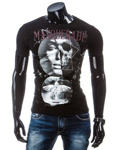 Koszulka męska z krótkim rękawem (rx1410) Czarny   ODZIEŻ MĘSKA \ T-shirty  