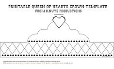 Crown Outline | Mad Hatter Tea Party: Invitations, Decorations, Art Activites, Games ...