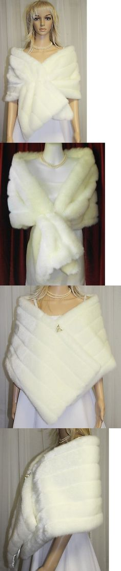 Wraps and Jackets 105472: Ivory Set Of Three X-Tra Wide Faux Fur Wrap Stole Shawl Scarf Bridal Wedding Nwt -> BUY IT NOW ONLY: $90.2 on eBay!