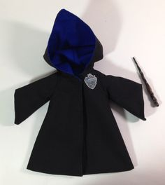 Lined Ravenclaw robes and Wand for YoSD 1/6th by DayDreamerDolly (Art & Collectibles, Dolls & Miniatures, Art Dolls, bjd, yosd, dress, outfit, japan, doll, volks, soom, harry potter, hogwarts, robe, ravenclaw)