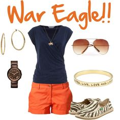 Game Day in Auburn, created by sstucker on Polyvore