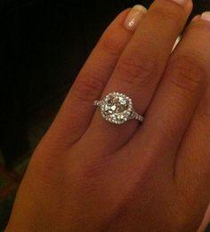 Diamond Halo Engagement ring. WOW!