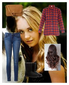 """""""I met Amber Marshall today!!!!!!!"""" by hannahve ❤ liked on Polyvore featuring Current/Elliott, Paige Denim, UGG Australia and Fat Face"""