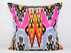 Hey, I found this really awesome Etsy listing at https://www.etsy.com/listing/165764135/uzbek-ikat-pink-ikat-pink-ikat-pillow