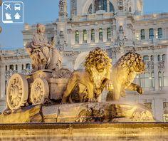 Apresentamos aos viajantes uma das obras de arte mais enigmáticas da cidade de Madri: a Fonte de Cibeles. Dedicada a deusa grega Cibeles, foi esculpida no ano de 1782 e está localizada no centro da praça mais importante da cidade, rodeada de belas construções e dividindo os bairros do Centro, Retiro e Salamanca. Programe a sua viagem para curtir as belezas da Espanha na Clube Turismo mais perto de você! http://www.clubeturismo.com.br/