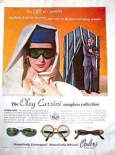 1964 Vintage La Oleg Cassini St. Tropez Romanesque Sunglasses Oculens Color Ad